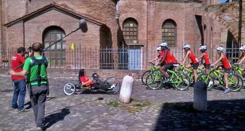 L'incontro con Laura Rampini, su hand bike