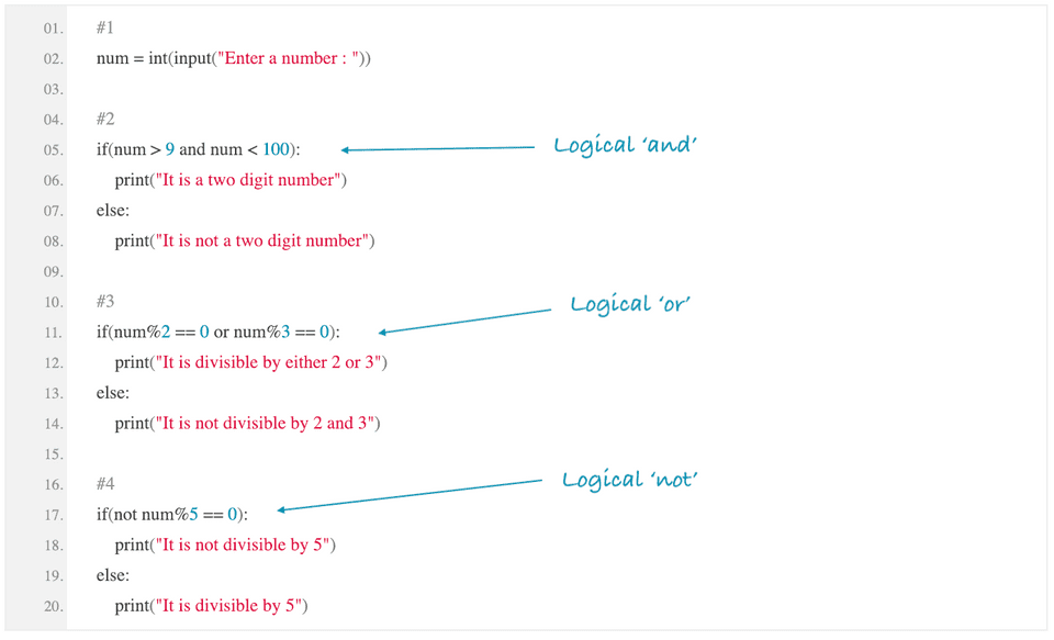 python logical operations