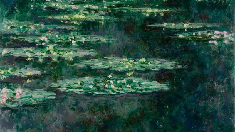 Клод Моне «Лилии» (фрагмент), 1904