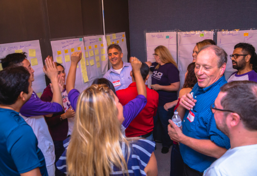 Jet.com team leading the interactive Let's Play Agile workshop