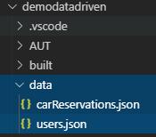 データフォルダーにあるデータファイル