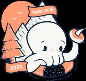 EmberConf 2020 Ship Shape Sticker