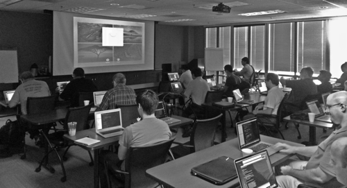 Anjan Das teaching by Live Coding