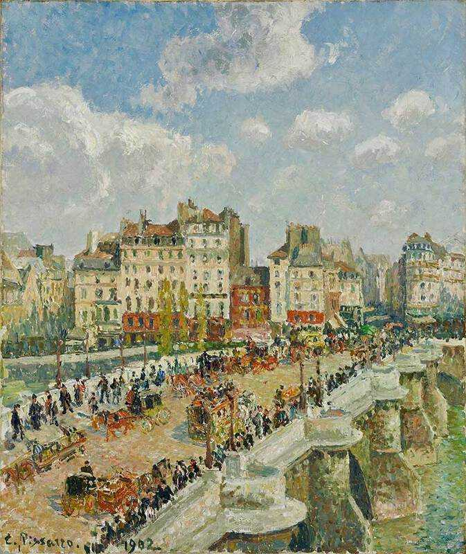 Pissarro's Le Pont Neuf. Pissarro was an important contributor to the exhibitions.