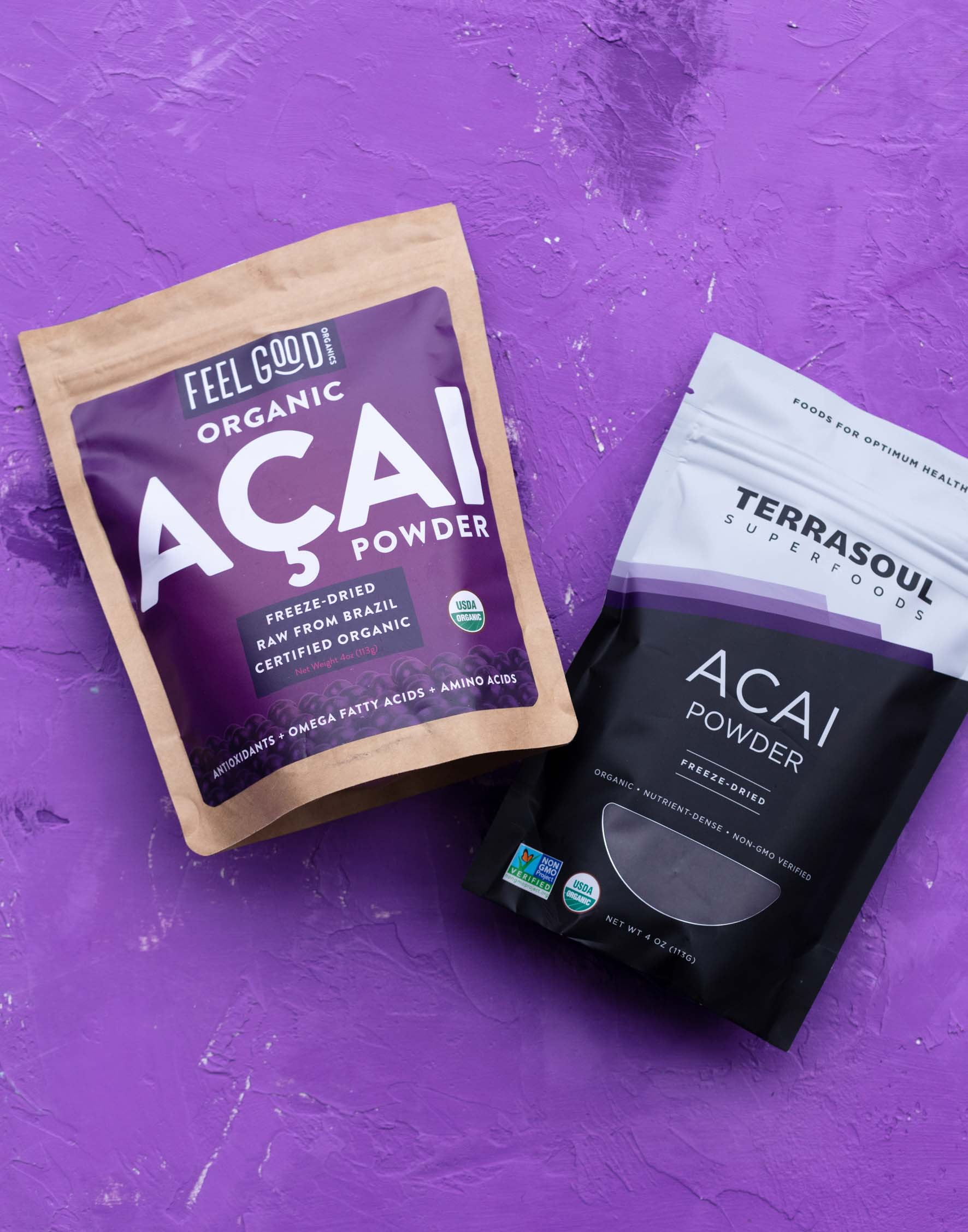 Terrasoul and Feel Good Organics acai berry powder