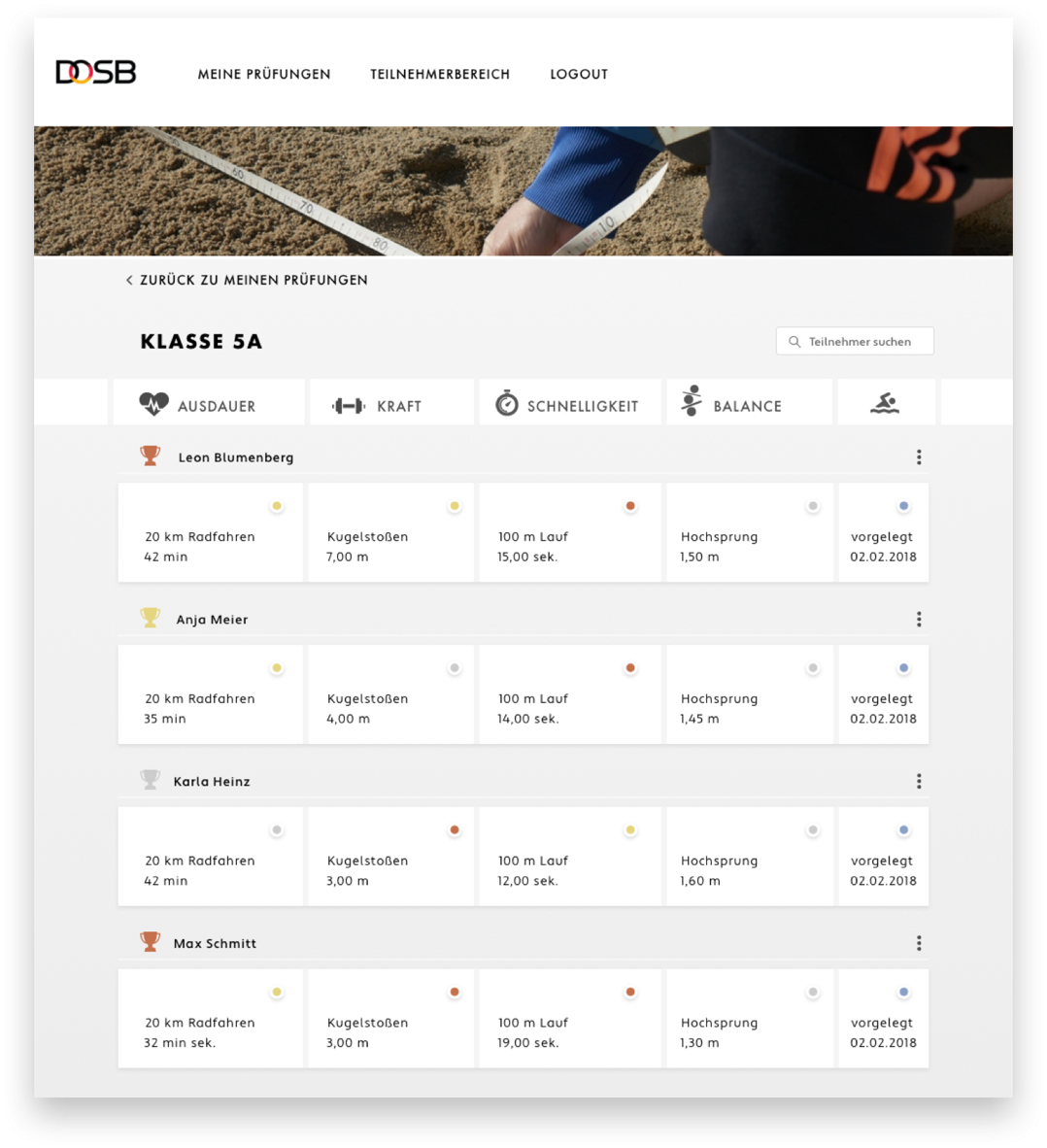 Sportabzeichen app top
