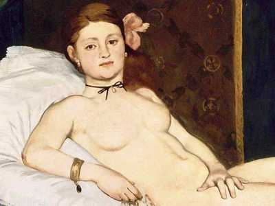 Edouard Manet's Olympia: if Dejeuner sue l'Herbe was controversial, then this work was dynamite.  It sparked uproar.