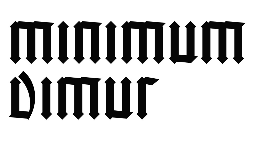 Example of Blackletter calligraphy made with CSS