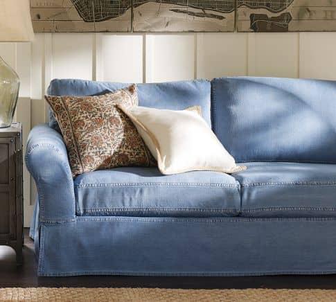 Canapé en jean