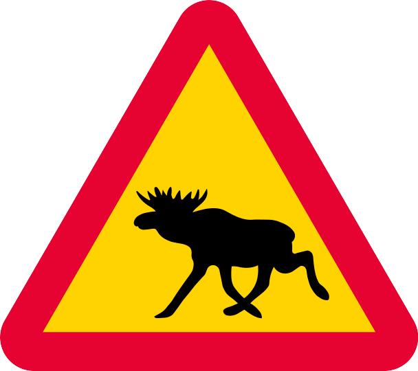 Warning for moose sign