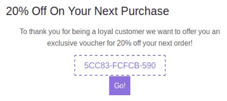 Next order coupon
