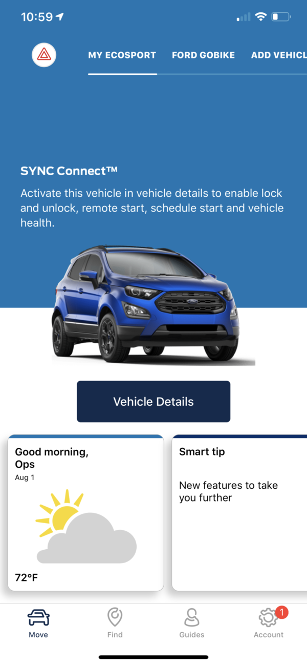 FordPass Vehicle Overview