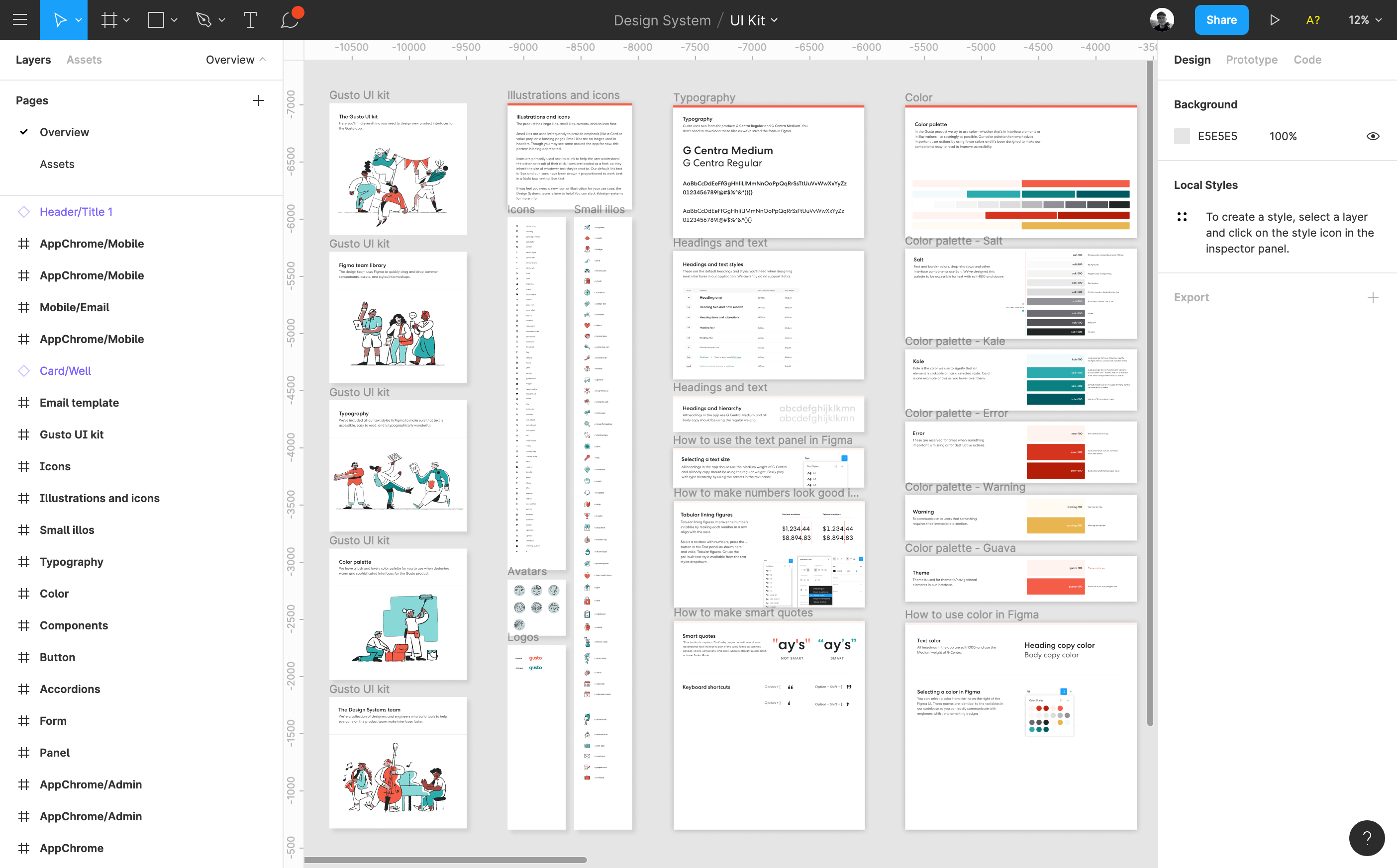 Our UI Kit built in the Figma design tool