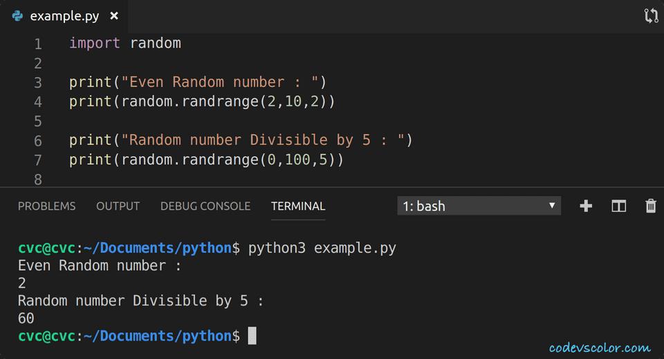 python print even number in range