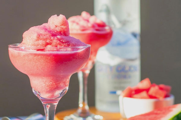 Watermelon Slushy Cocktails