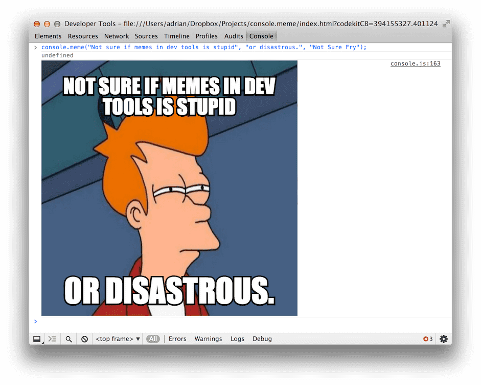 """Memes in the console"""