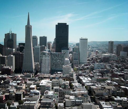 Looking Across Downtown San Francisco from Coit Tower