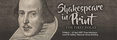 A title card labelled: Shakespeare in Print.
