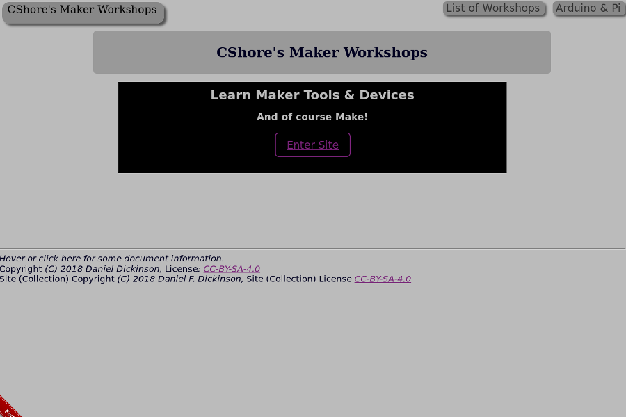 Maker Workshops on The C Shore