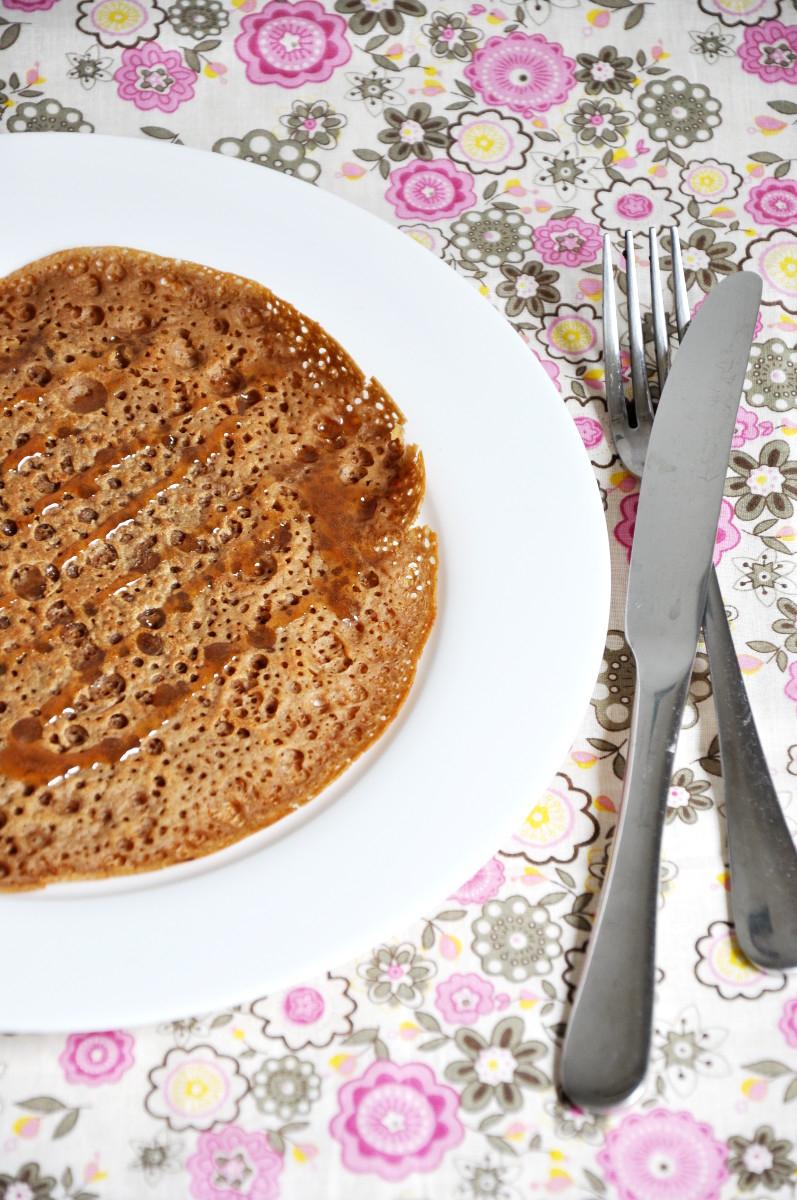 Stout Beer Pancake with Brown Rice Caramel Syrup