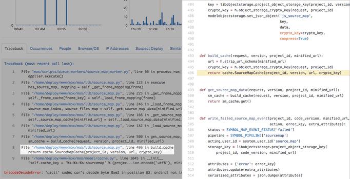Deep links to source code