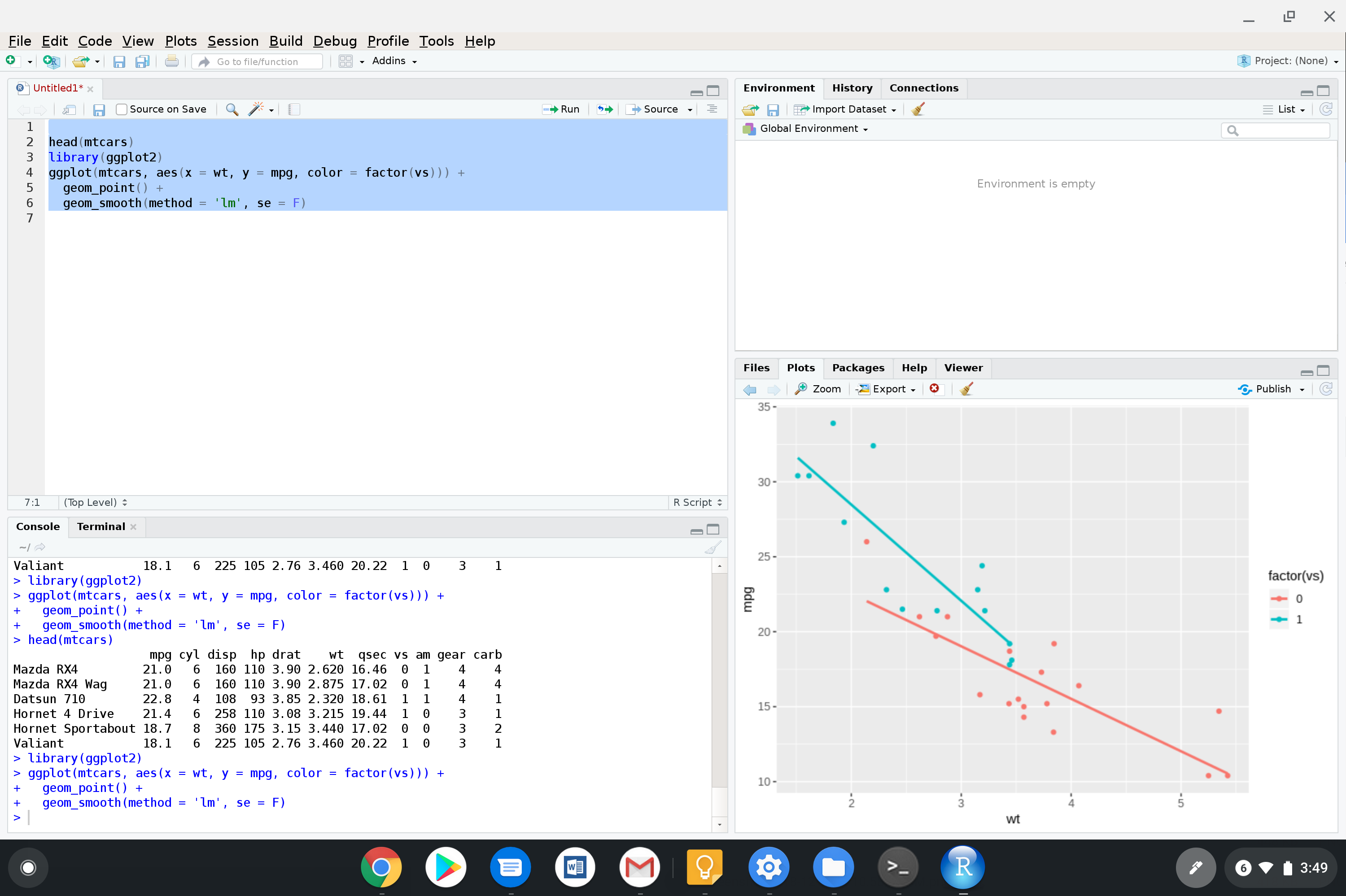 Installing R and RStudio on a Pixel Slate | Francis L  Huang