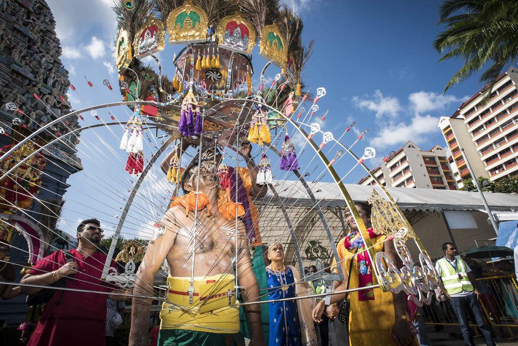 Thaipusam procession in Singapore