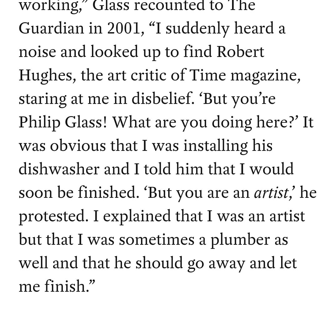 Quote about Philip Glass