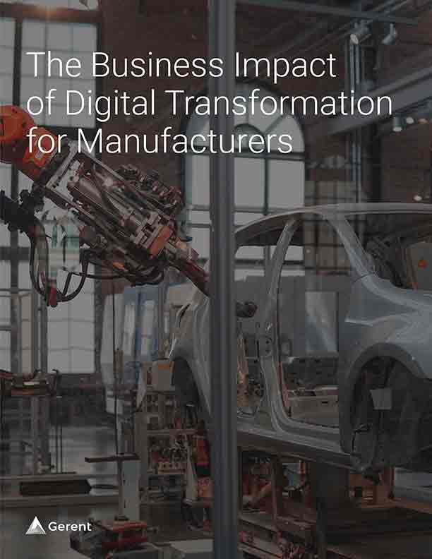 The Business Impact of Digital Transformation for Manufacturers Cover