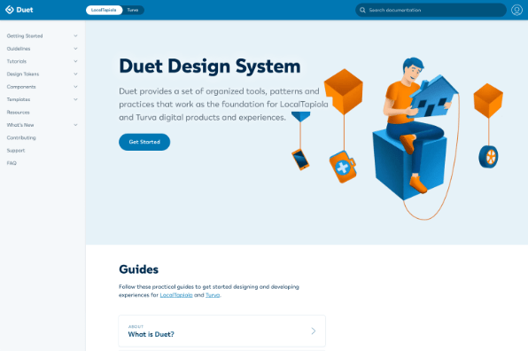 Screenshot of Duet Design System