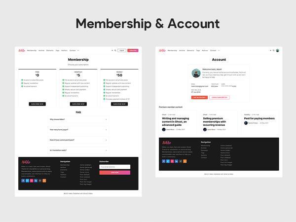 Nikko Ghost Membership and Account