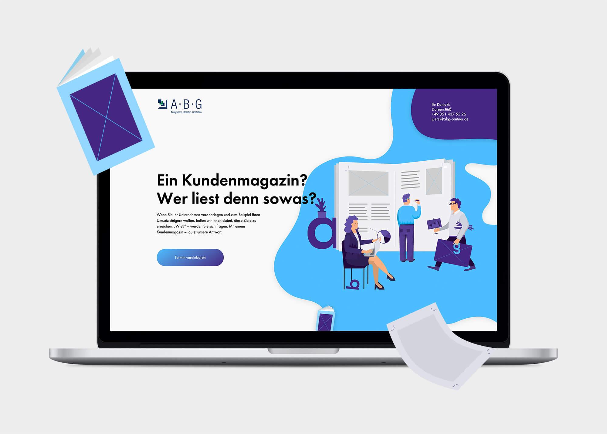 Website von ABG Marketing
