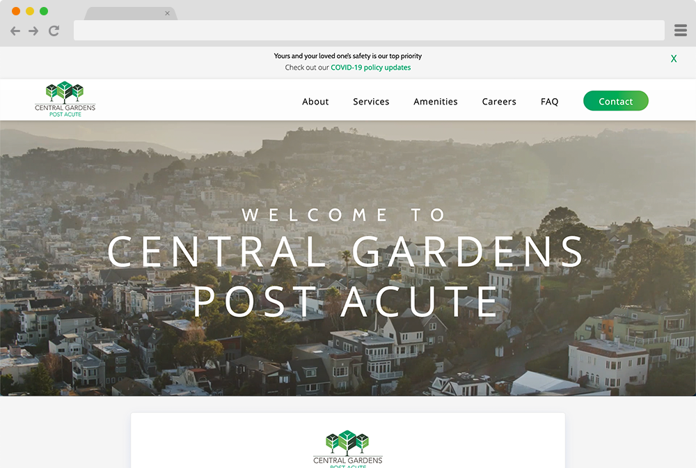 Central Gardens Post Acute Project Screenshot