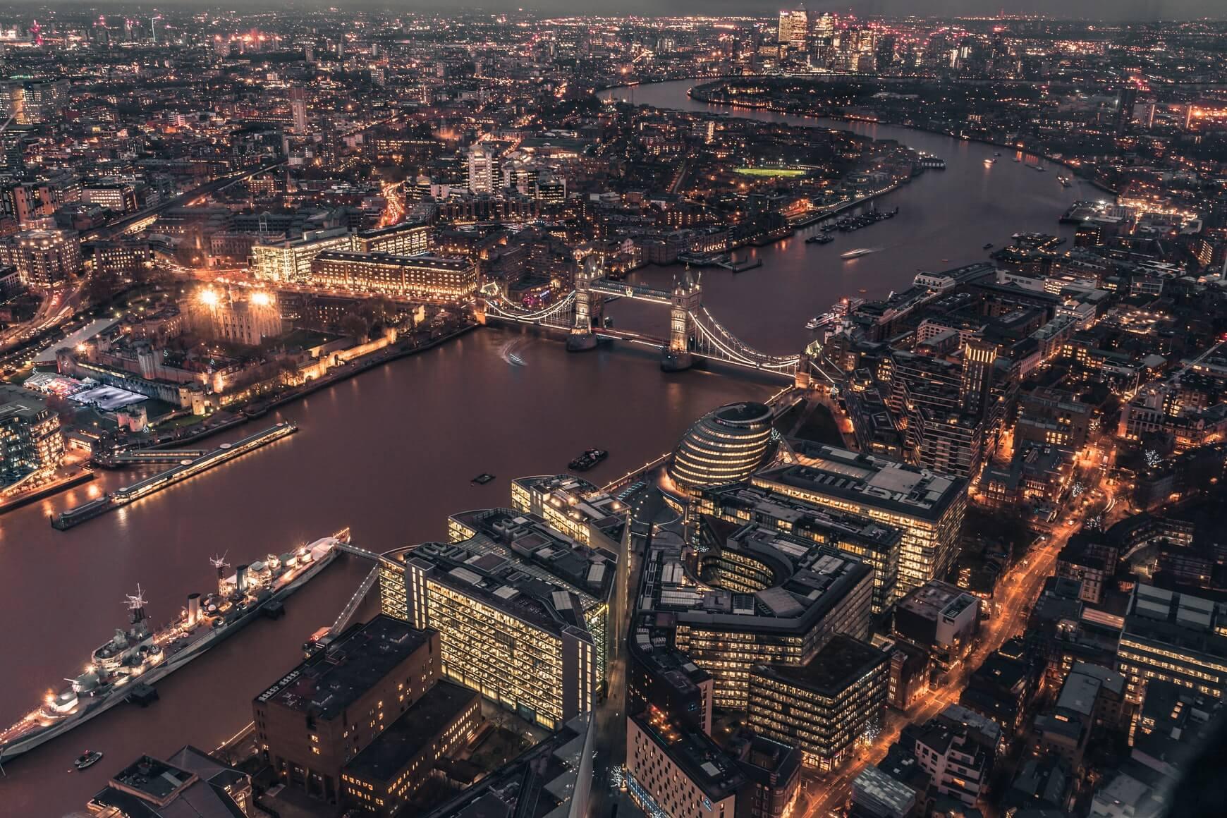 london ariel view