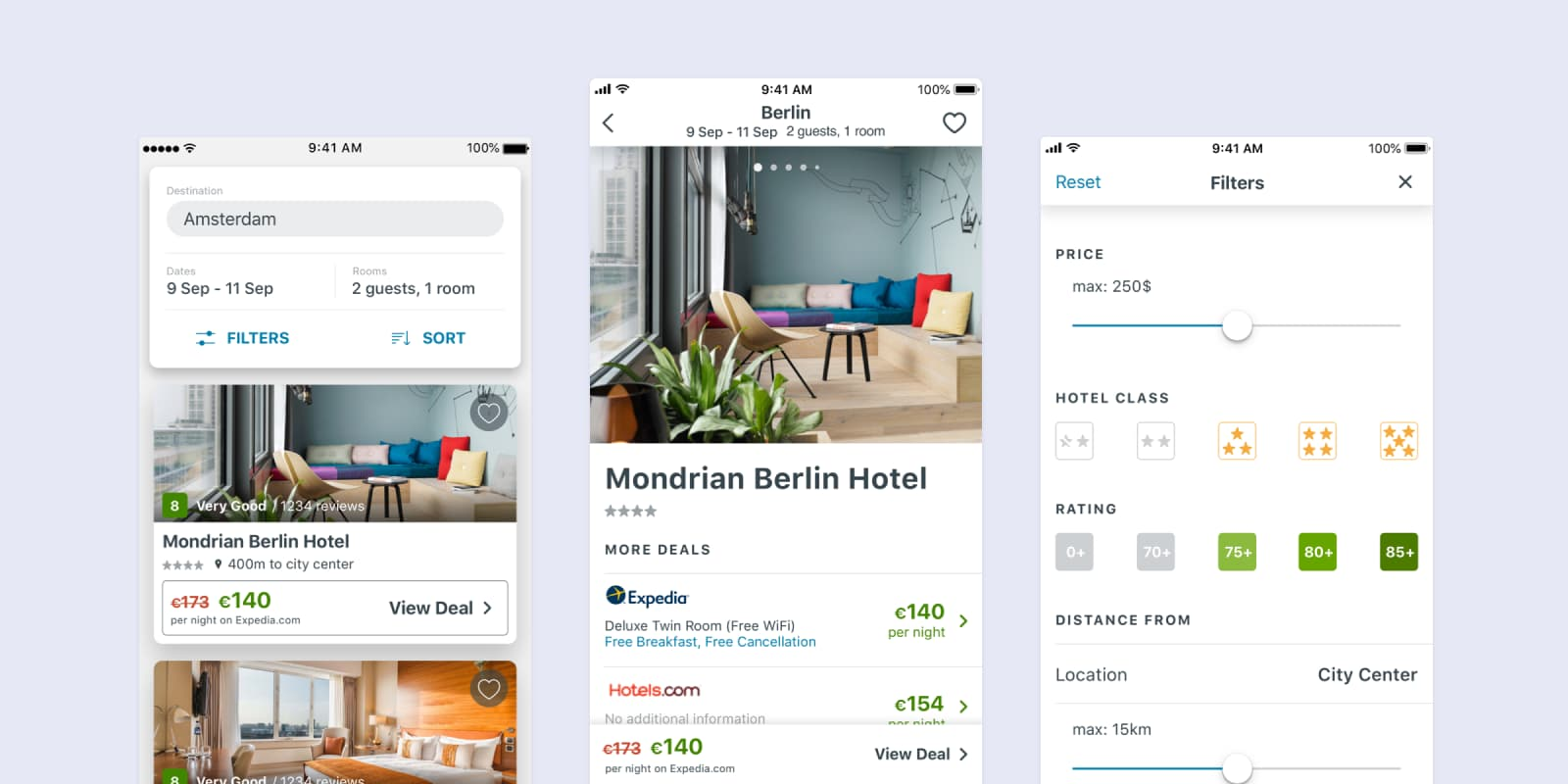 trivago native app cover for the case study
