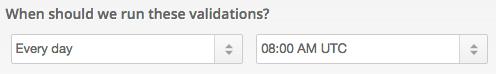 Scheduled validation screenshot