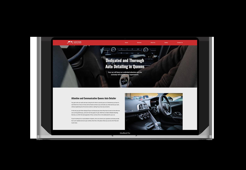 Adonis Auto Detailing portfolio project