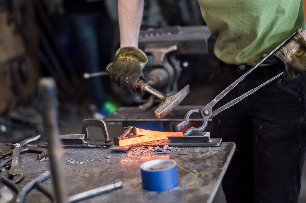 Iron forging - Photo by Maranda Vandergriff on Unsplash
