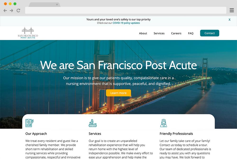 San Francisco Post Acute Project Screenshot
