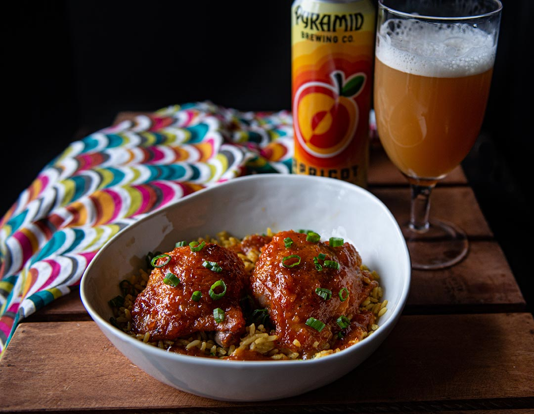 Sweet Chili Apricot Ale Chicken
