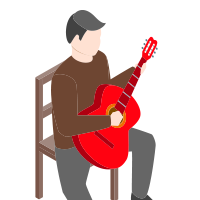 playing the classical guitar