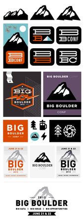 Progression of Big Boulder's logomark