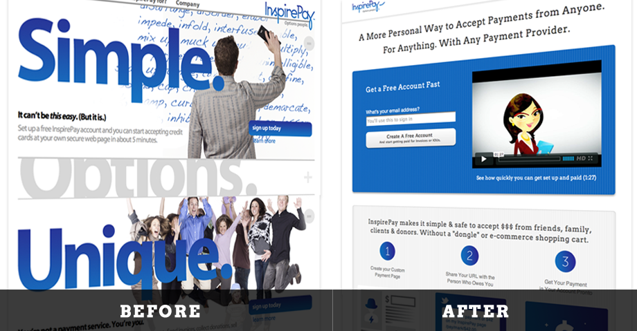 Inspirepay Before After